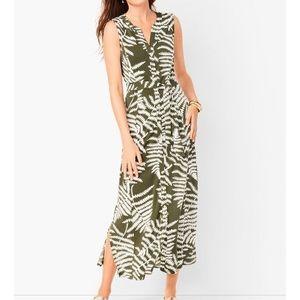 Talbot's Botanical Maxi Dress XS NWT